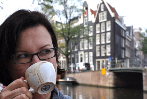 Sandra wondering if the lean on the buildings is just a side effect of caffeine withdrawal