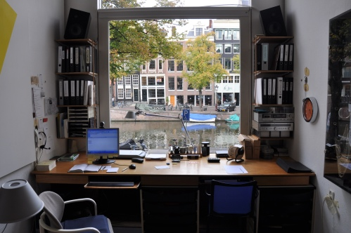 Gijs' desk. How could you get anything done with a view like this?