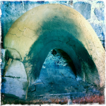 Clay oven in outdoor kitchen