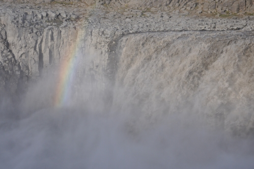 Dettifoss, Europe's most powerful waterfall. Surrounded by a rocky wasteland with no good reason readily apparent for such a mighty flow.