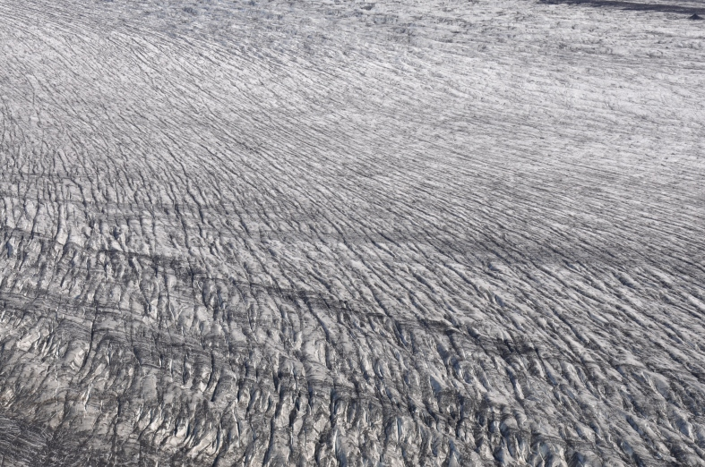 the sweeping ice floe - like a charcoal drawing