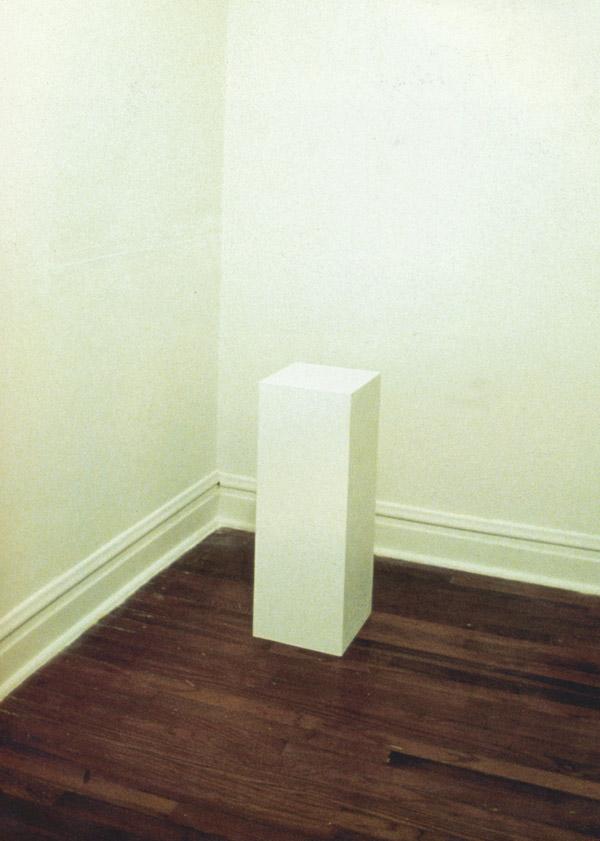 Tom Friedman 1992 entitled Untitled (A Curse)