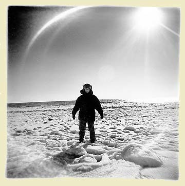 Sandy Sorlein 1996, Polar Explorer Self-Portrait, New Jersey