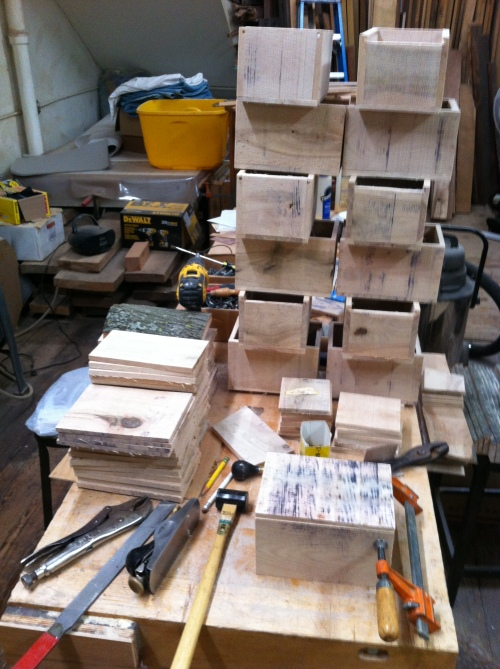 Box building production line