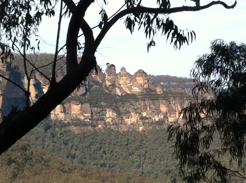 "A level view of the iconic ""3 Sisters"""