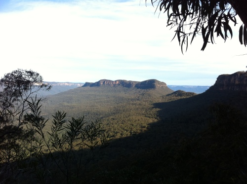 Mt. Solitary from the Golden Stairs near Katoomba.