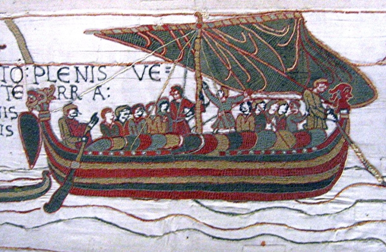 Vikings invading the Bayeaux Tapestry