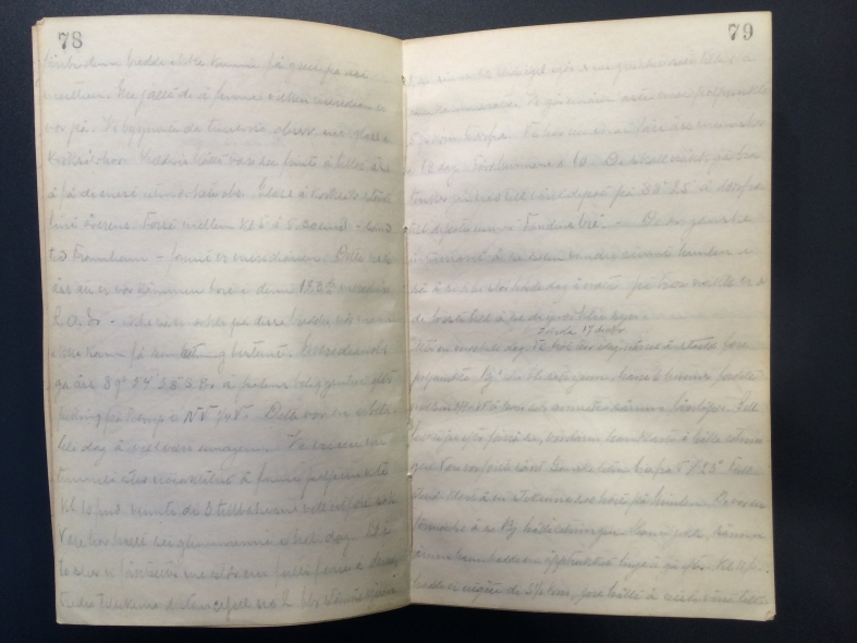 Amundsen's journal on the day they achieved the South Pole